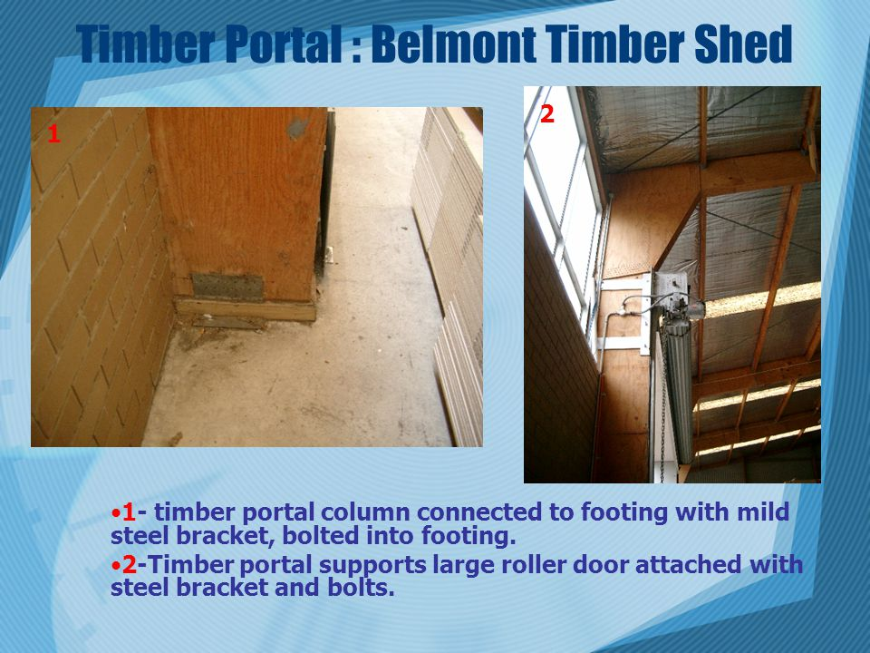 Timber Portal : Belmont Timber Shed