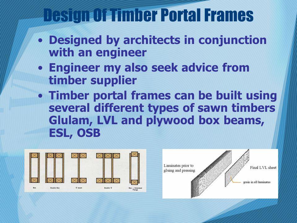 Design Of Timber Portal Frames