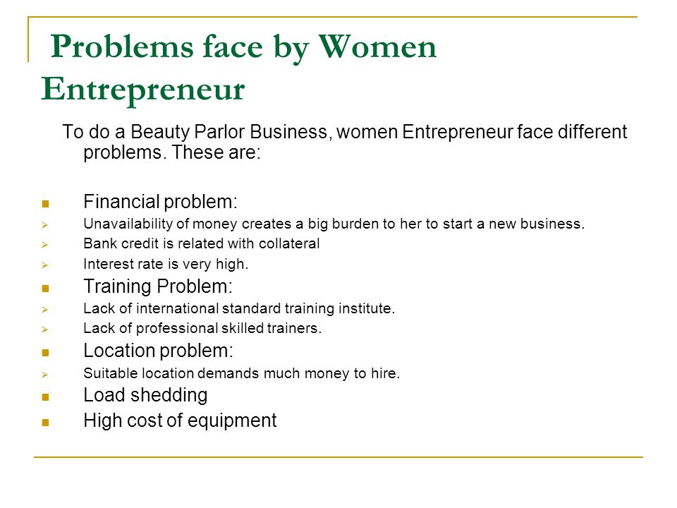 Problems face by Women Entrepreneur