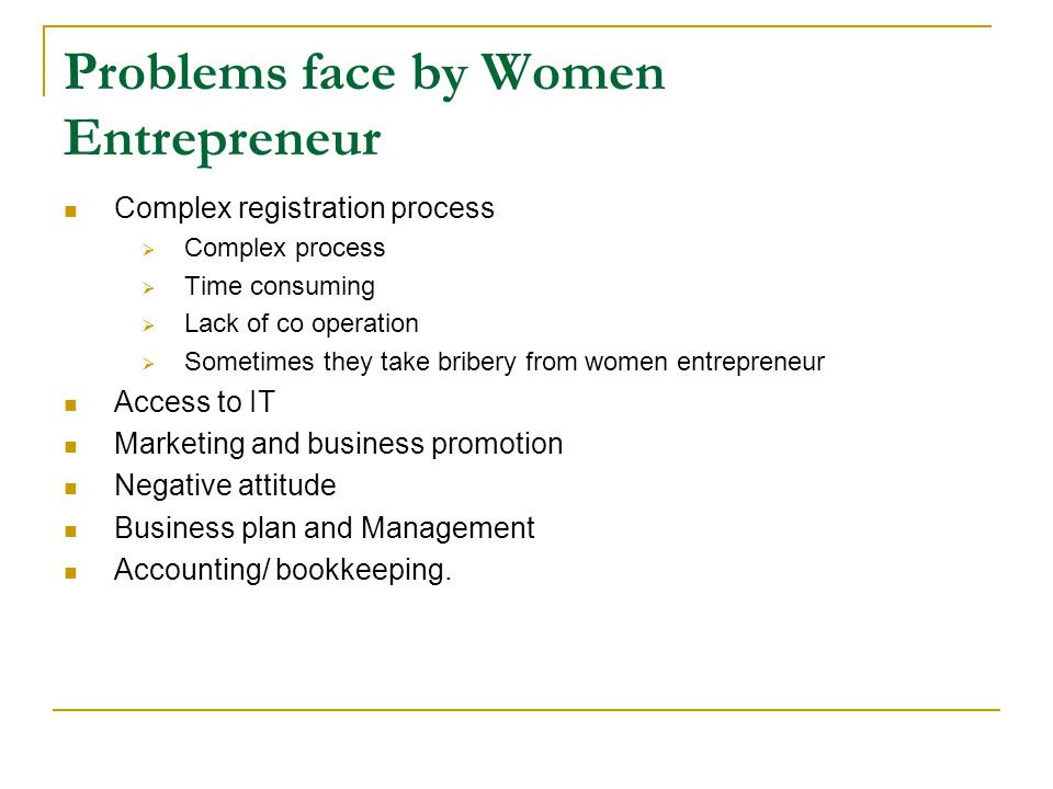 Problems face by Women Entrepreneur