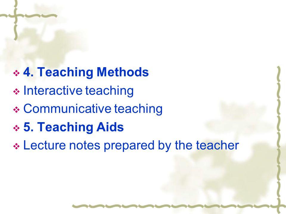 4. Teaching Methods Interactive teaching. Communicative teaching.