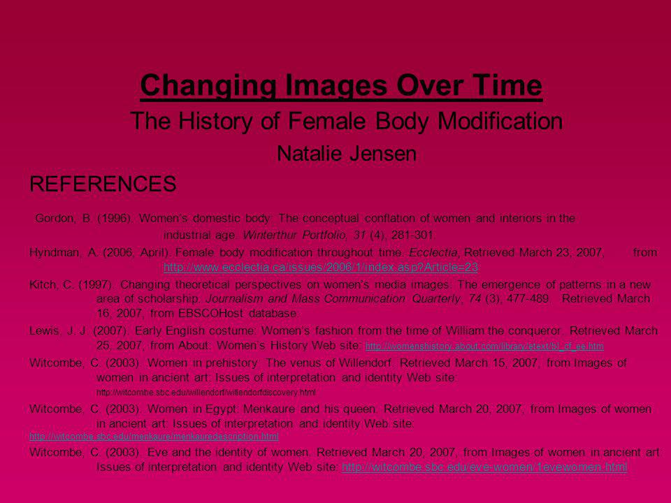 Changing Images Over Time