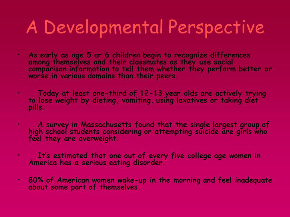 A Developmental Perspective