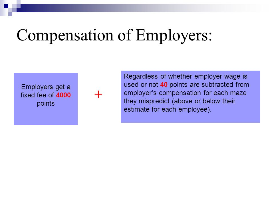 Compensation of Employers:
