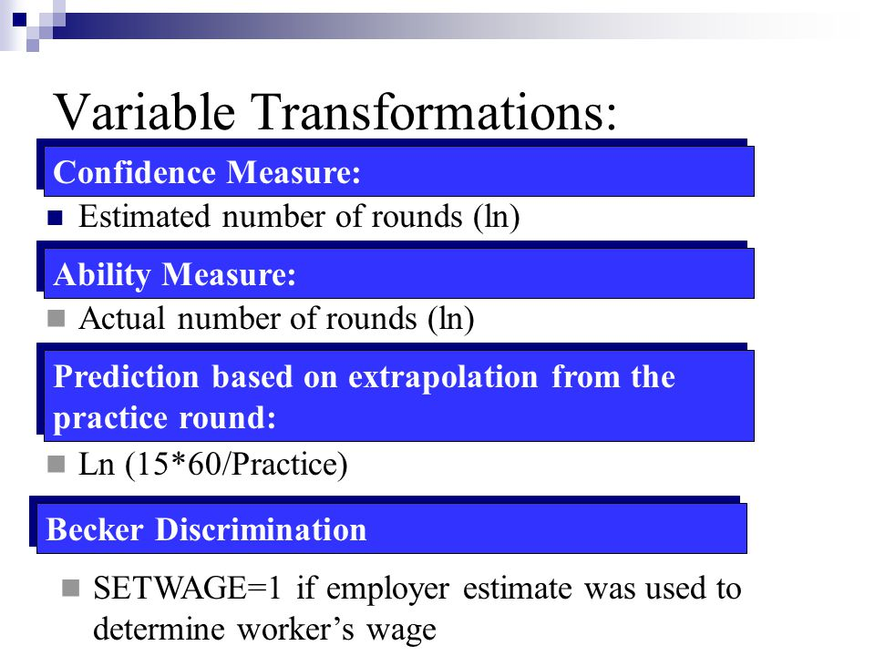 Variable Transformations: