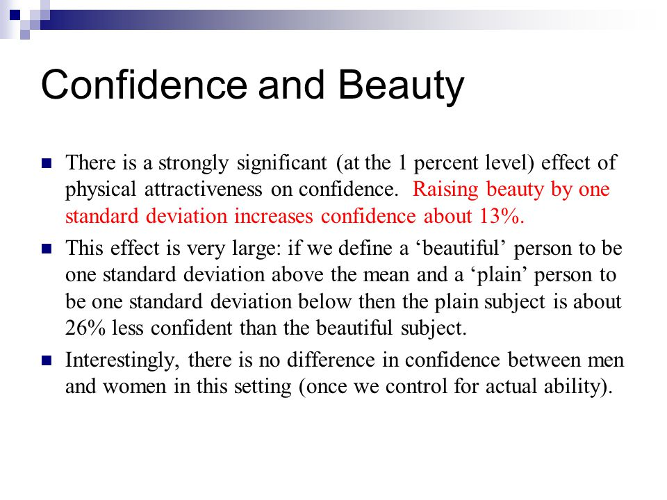 Confidence and Beauty