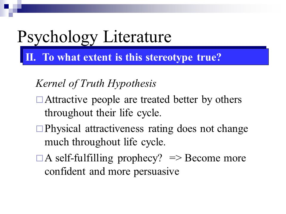 Psychology Literature