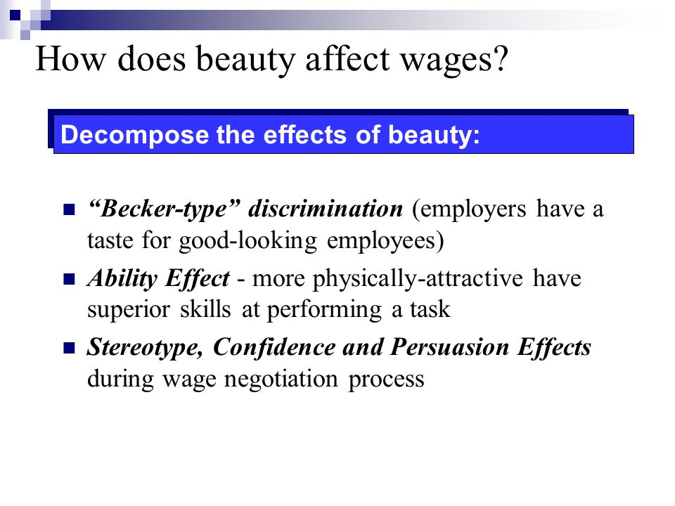 How does beauty affect wages