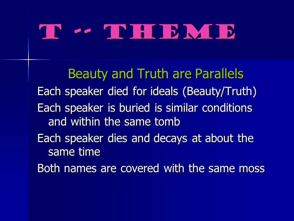 Beauty and Truth are Parallels