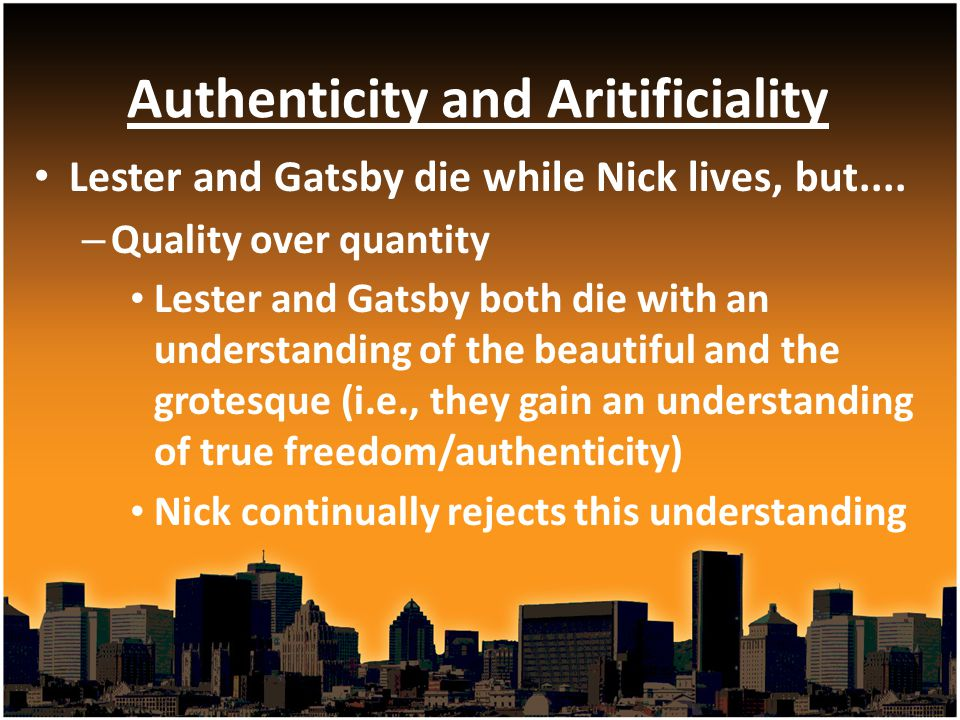 Authenticity and Aritificiality