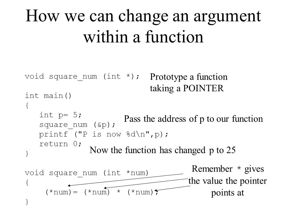 How we can change an argument within a function