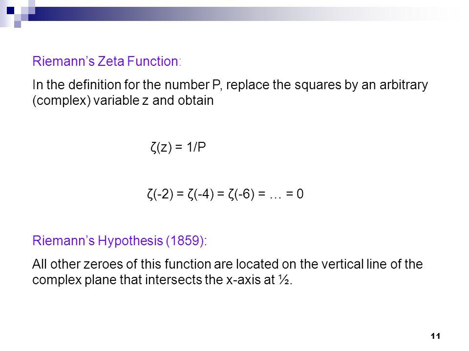 Riemann's Zeta Function: