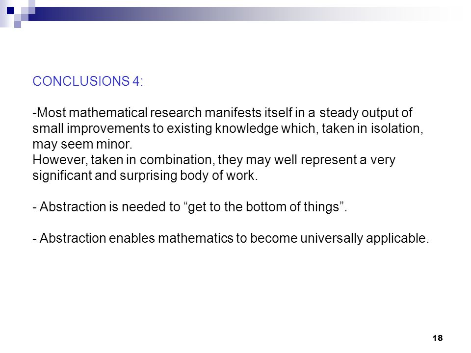 CONCLUSIONS 4: