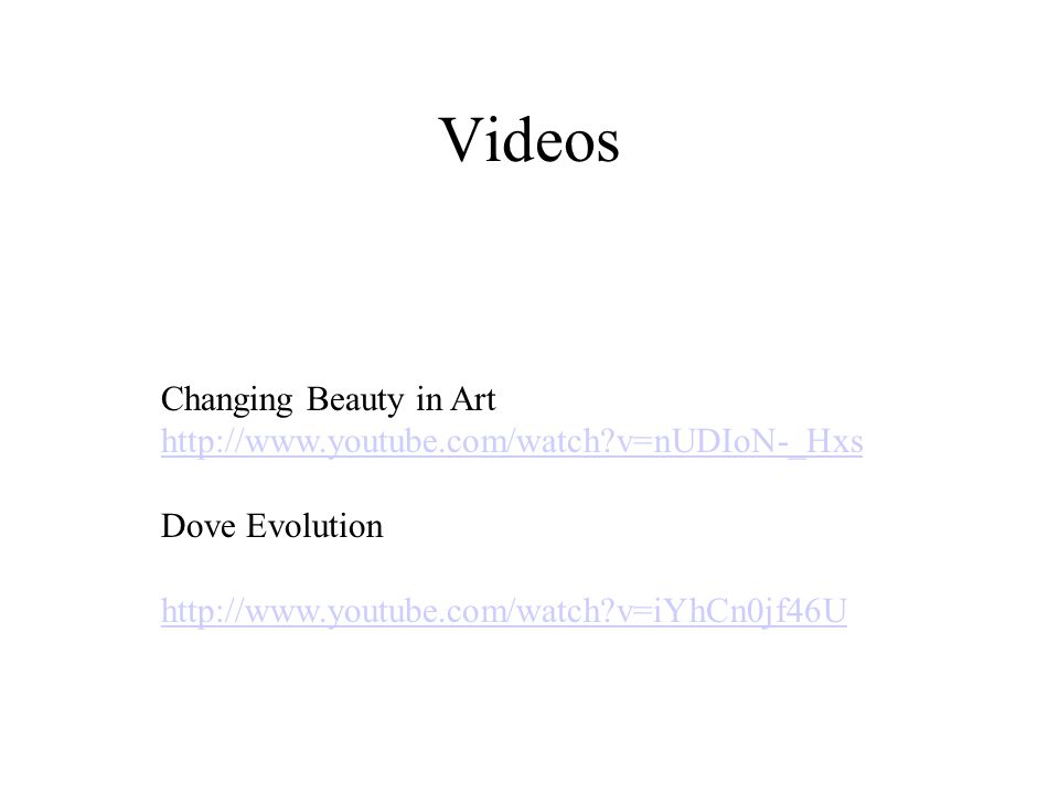Videos Changing Beauty in Art