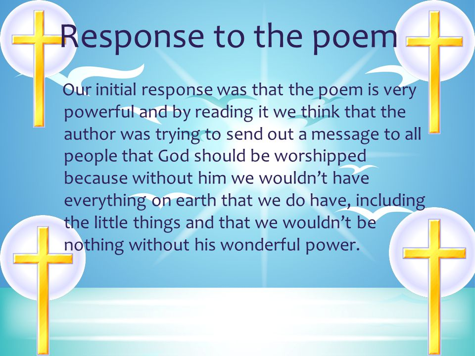 Response to the poem