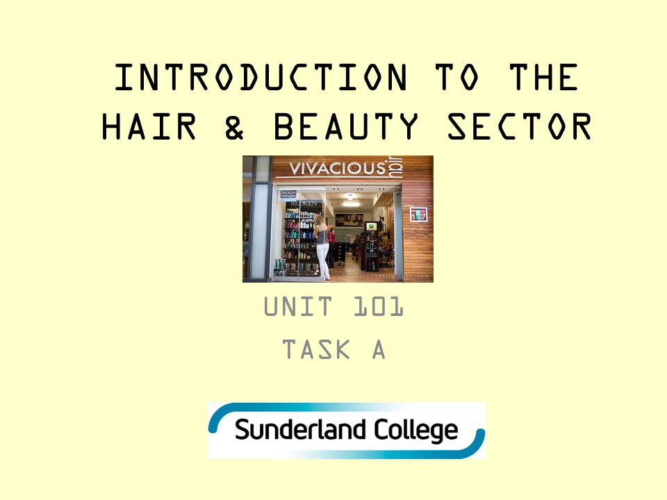 INTRODUCTION TO THE HAIR & BEAUTY SECTOR