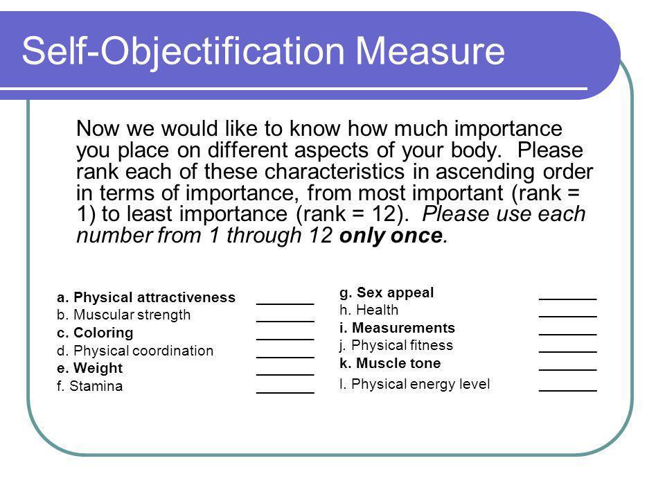 Self-Objectification Measure