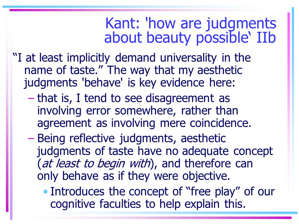 Kant: how are judgments about beauty possible' IIb