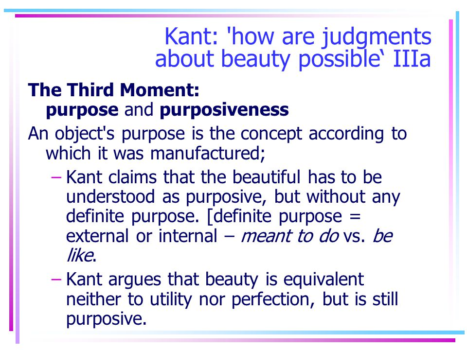 Kant: how are judgments about beauty possible' IIIa