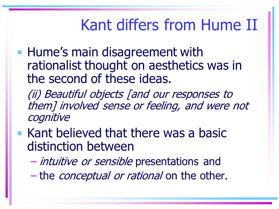 Kant differs from Hume II