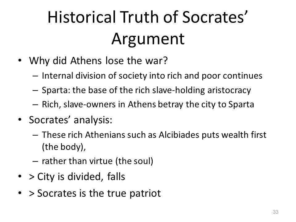 Historical Truth of Socrates' Argument