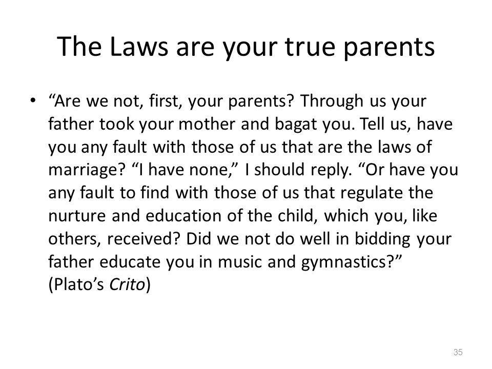 The Laws are your true parents