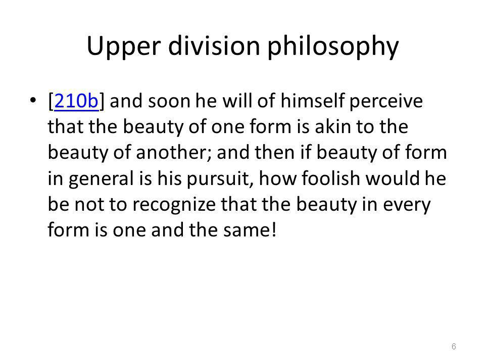 Upper division philosophy