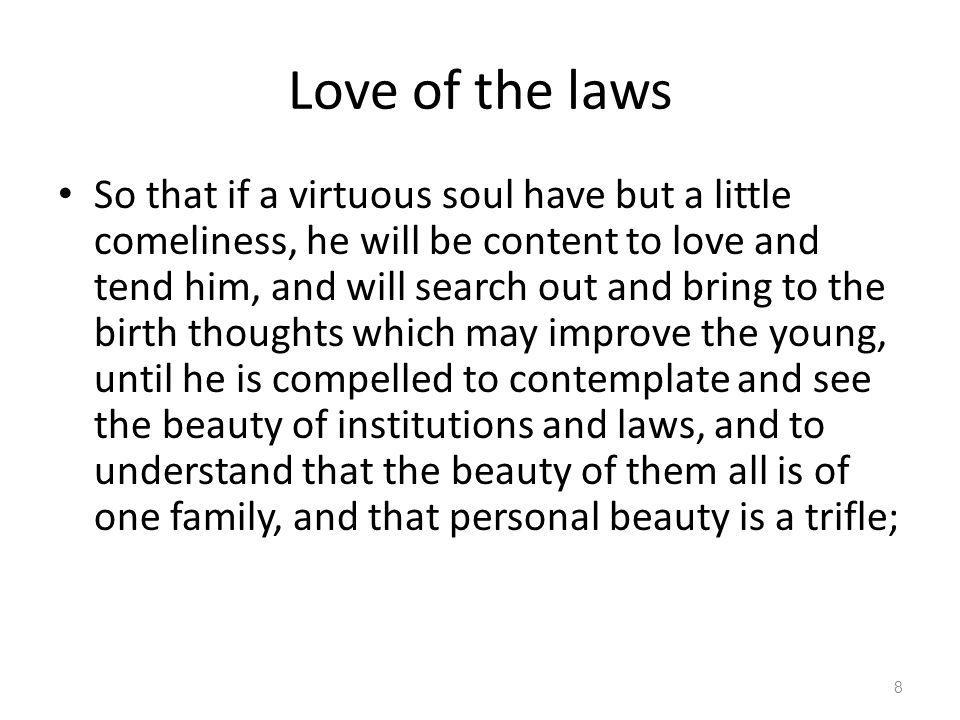 Love of the laws