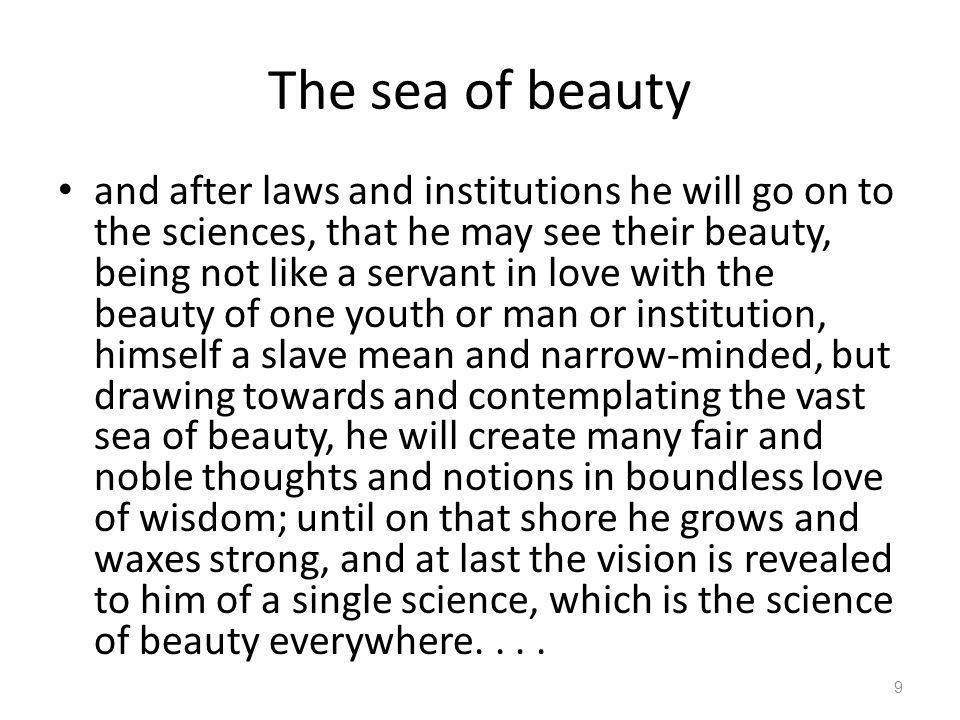 The sea of beauty