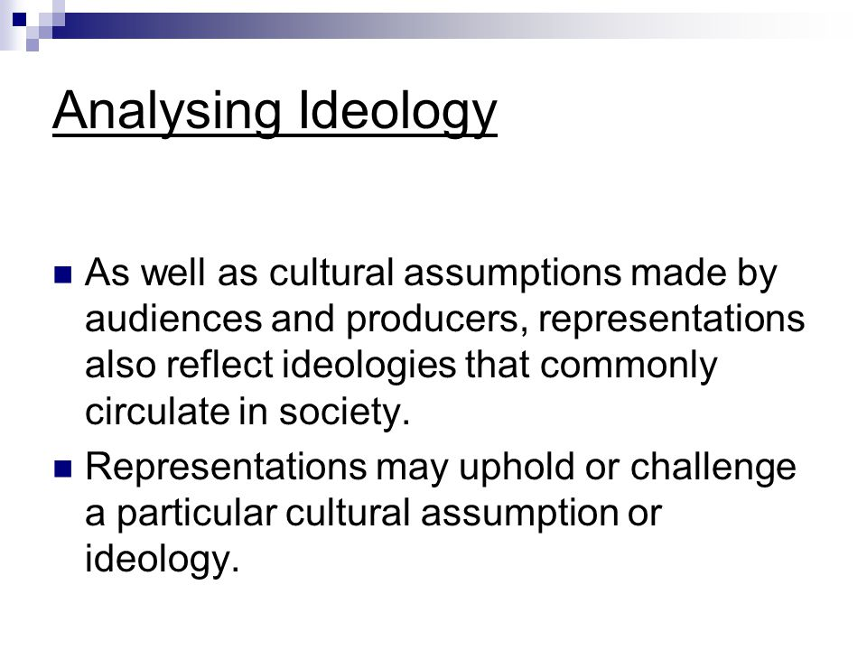 Analysing Ideology
