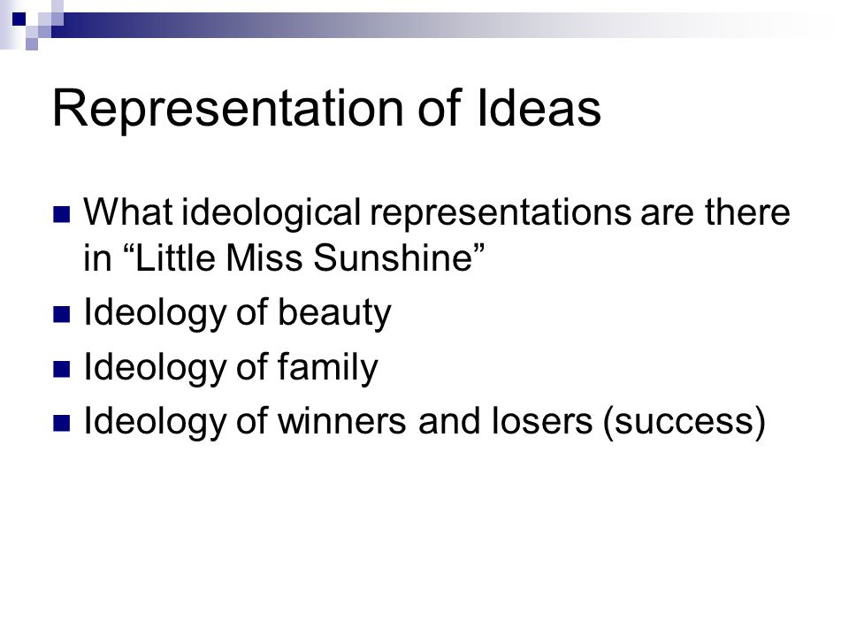 Representation of Ideas