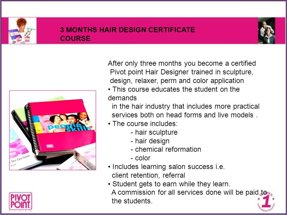 3 MONTHS HAIR DESIGN CERTIFICATE COURSE