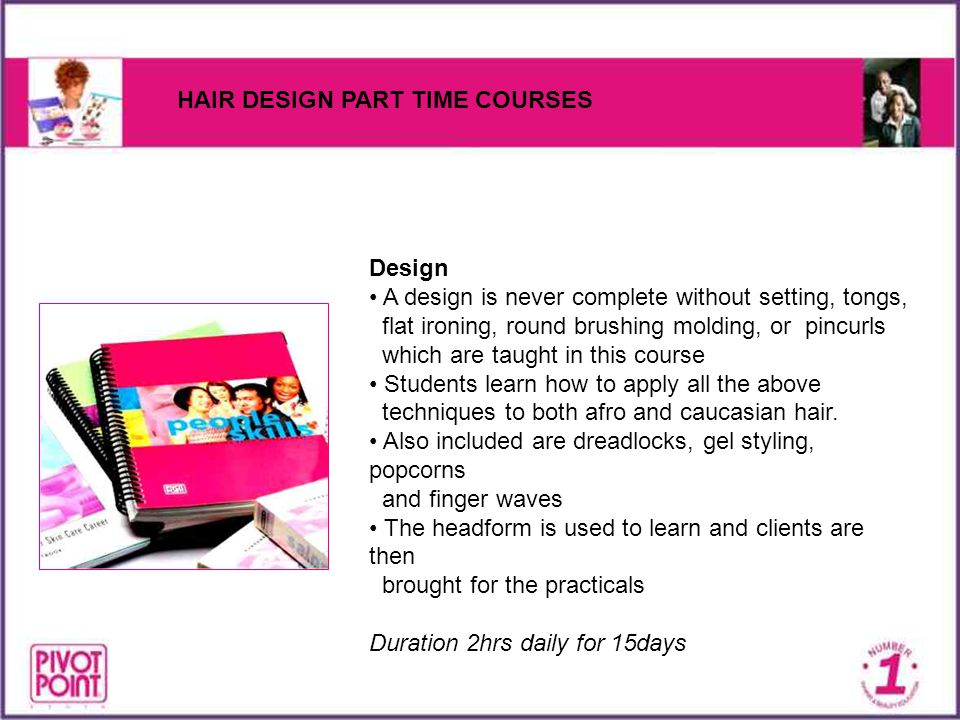 HAIR DESIGN PART TIME COURSES
