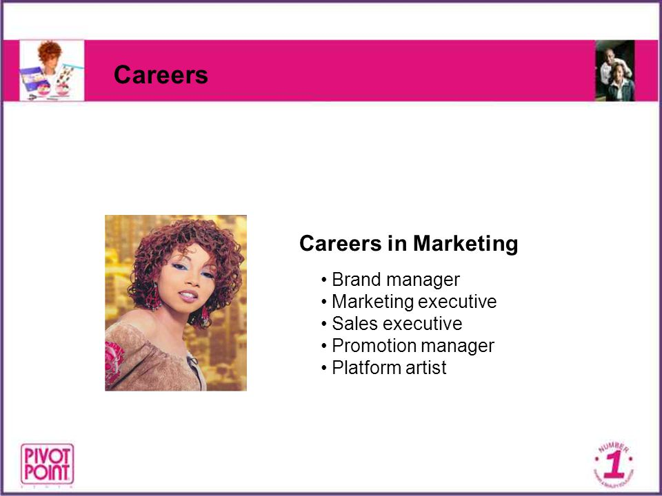 Careers Careers in Marketing Brand manager Marketing executive