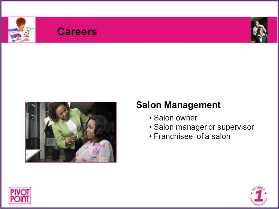 Careers Salon Management Salon owner Salon manager or supervisor