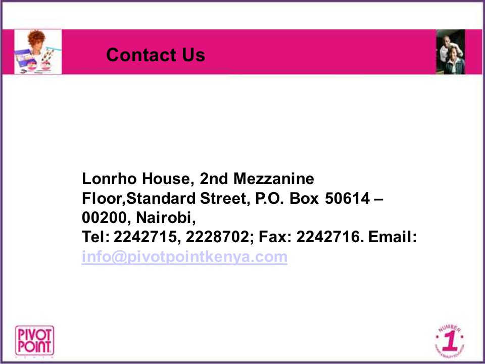Contact Us Lonrho House, 2nd Mezzanine Floor,Standard Street, P.O. Box – 00200, Nairobi,