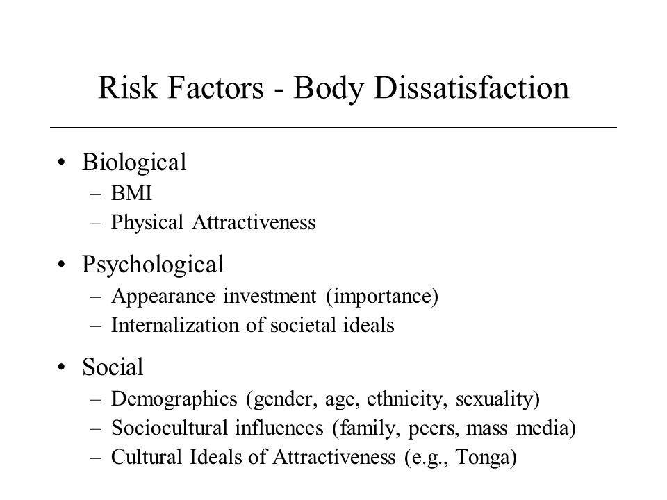 Risk Factors - Body Dissatisfaction