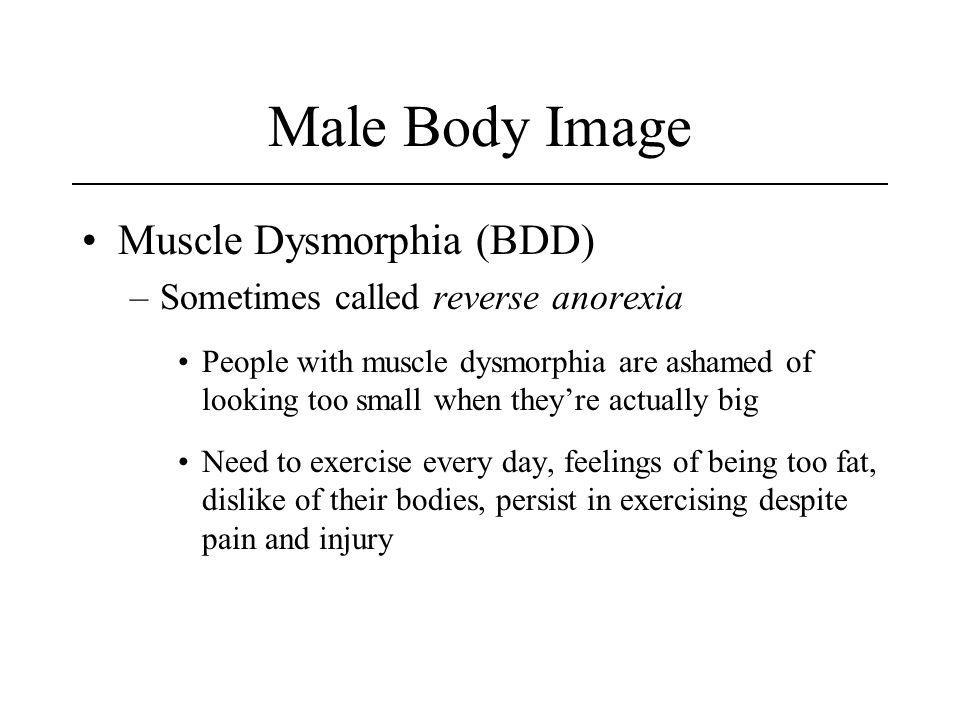 Male Body Image Muscle Dysmorphia (BDD)