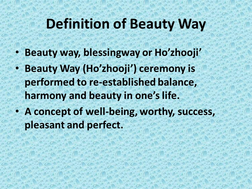 Definition of Beauty Way