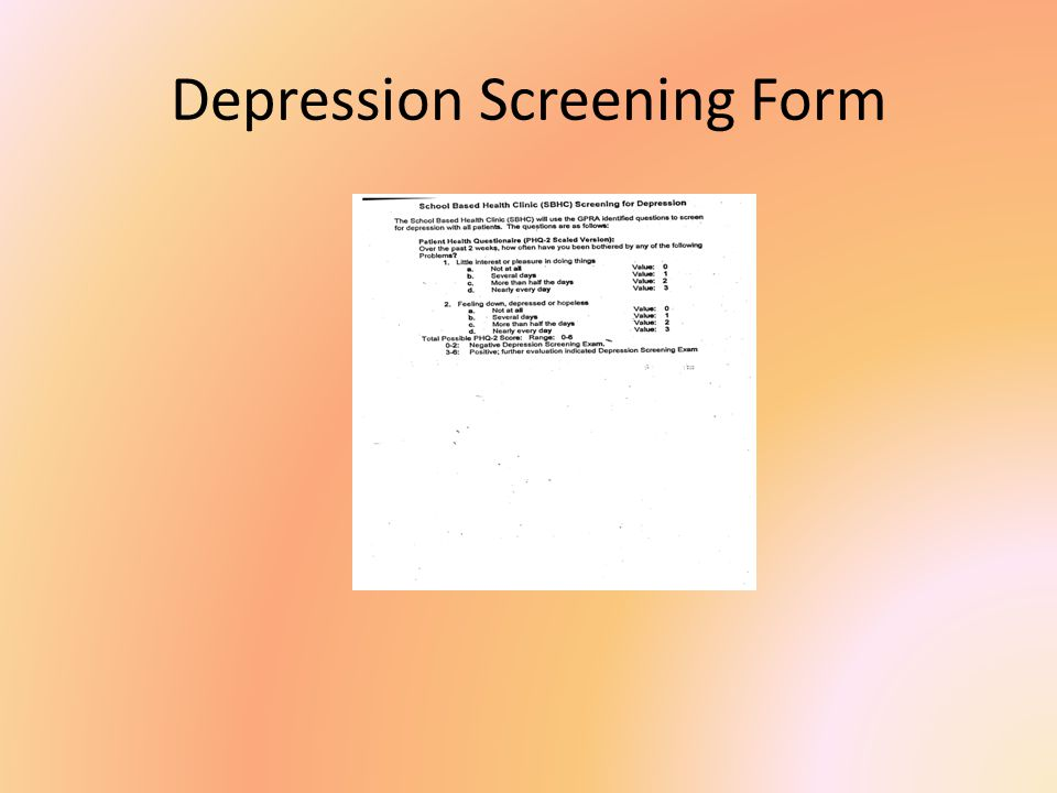 Depression Screening Form