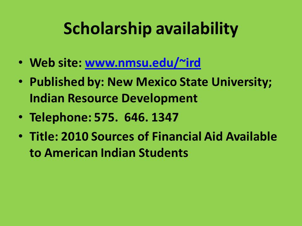 Scholarship availability