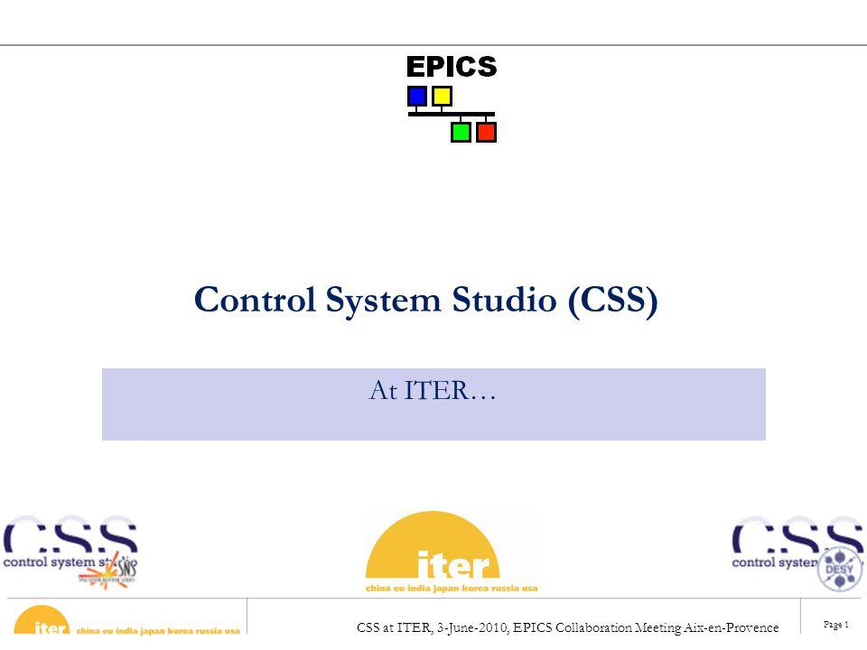 Control System Studio (CSS)
