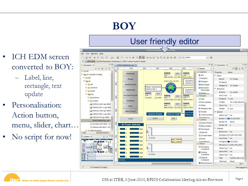 BOY User friendly editor ICH EDM screen converted to BOY: