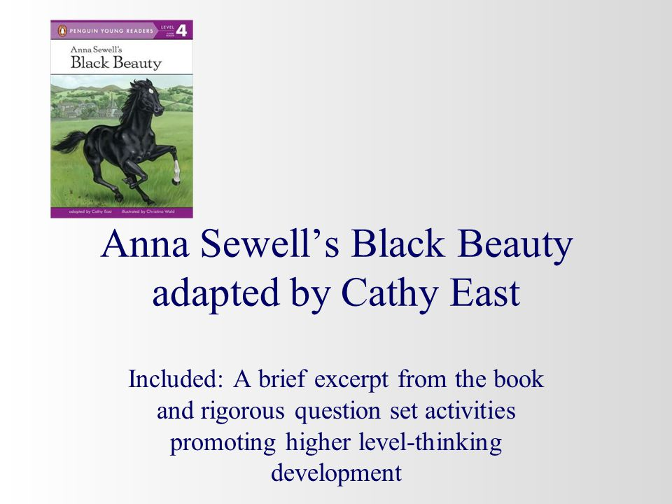 Anna Sewell's Black Beauty adapted by Cathy East