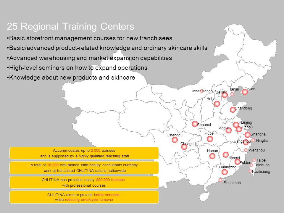 25 Regional Training Centers