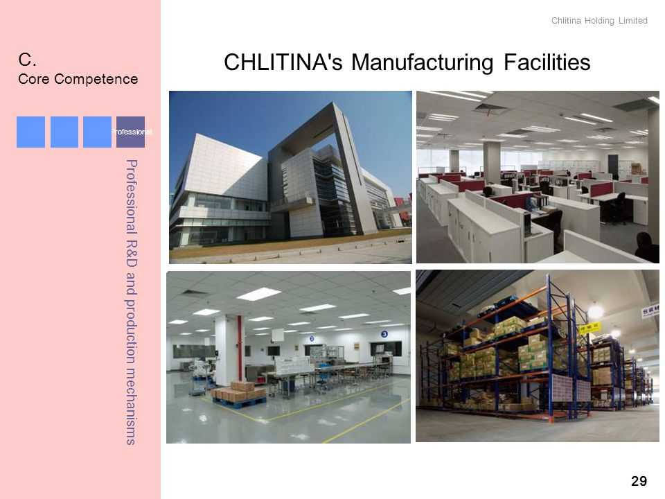 CHLITINA s Manufacturing Facilities