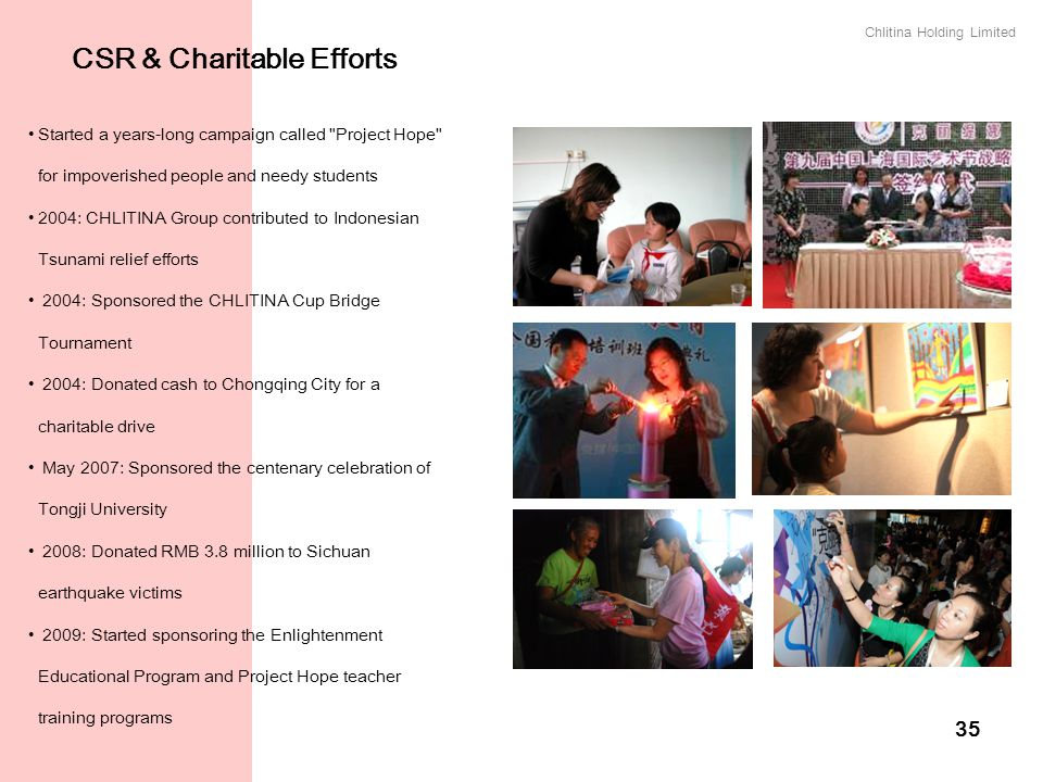 CSR & Charitable Efforts