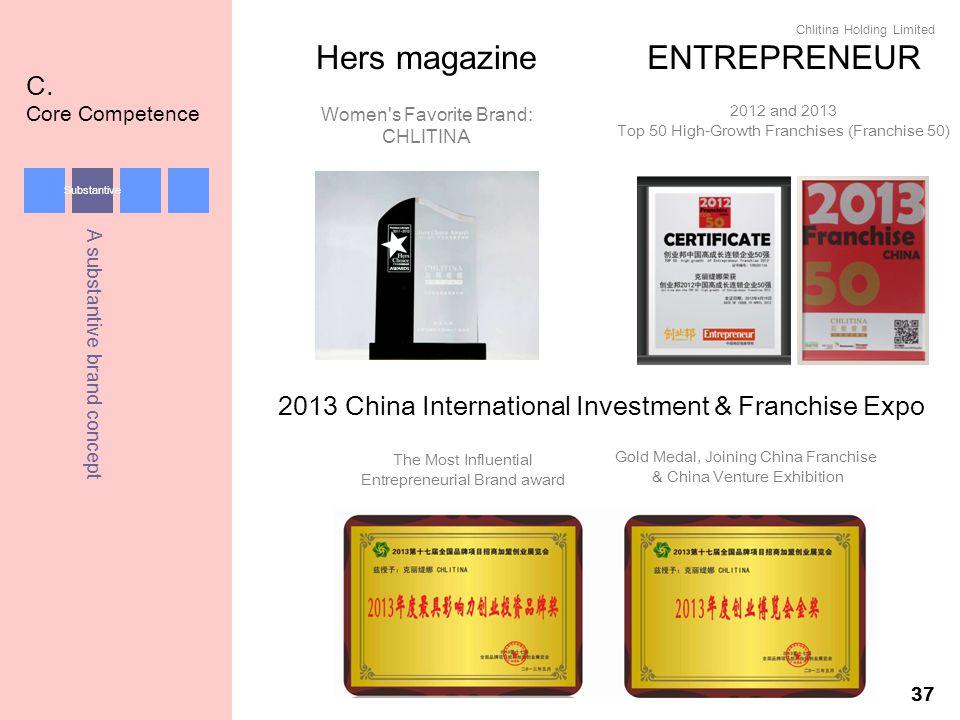 Hers magazine ENTREPRENEUR C. Core Competence