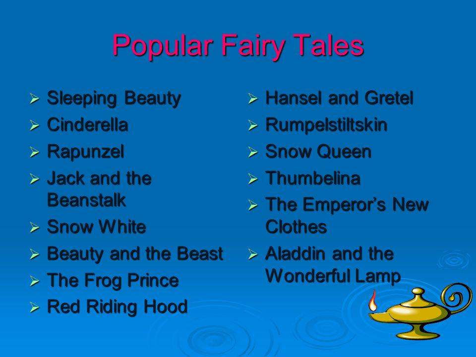 Popular Fairy Tales Sleeping Beauty Cinderella Rapunzel
