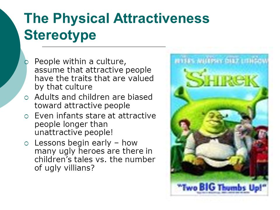 The Physical Attractiveness Stereotype